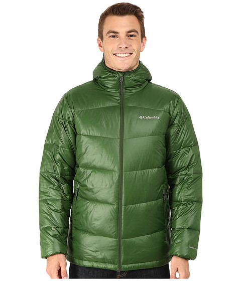Imbracaminte Barbati Columbia Gold 650 TurboDowntrade Hooded Down Jacket Woodland