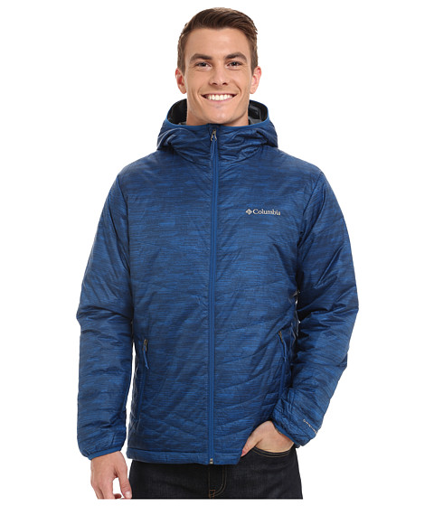 Imbracaminte Barbati Columbia Mighty Lighttrade Hooded Jacket Marine BlueWavy Print