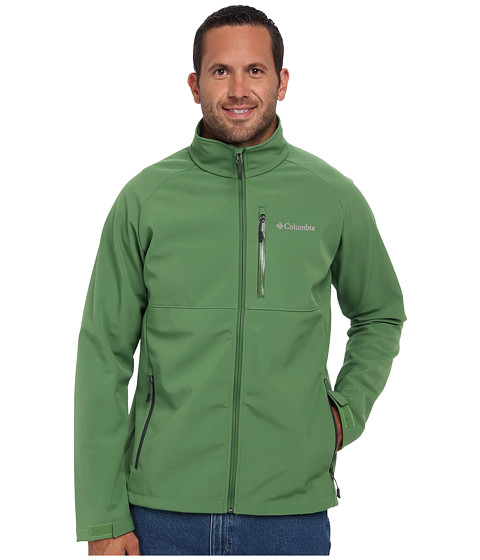 Imbracaminte Barbati Columbia Heat Modetrade II Softshell Jacket - Extended Dark BackcountryDark Moss Pop