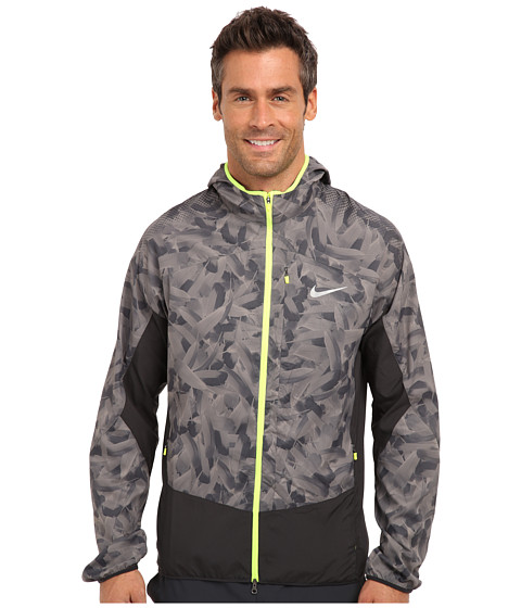 Imbracaminte Barbati Nike Printed Trail Kiger Jacket Light AshDark AshVoltReflective Silver