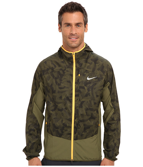 Imbracaminte Barbati Nike Printed Trail Kiger Jacket Rough GreenRough GreenAtomic OrangeReflective Silver