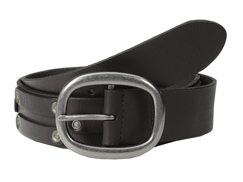 Accesorii Barbati John Varvatos 38mm Leather Belt w Harn Buckle and Stud Black