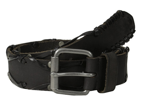 Accesorii Barbati John Varvatos 38mm Leather Belt w Harness Buckle Black