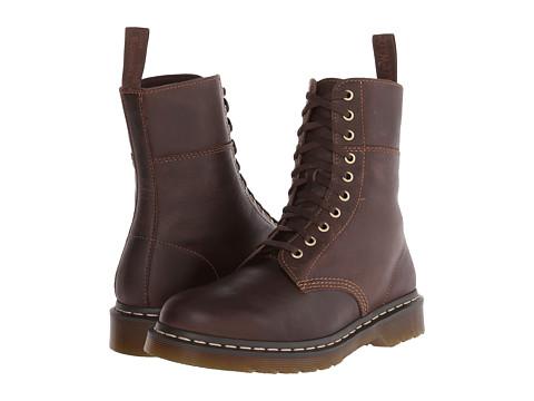 Incaltaminte Barbati Dr Martens Bart 10-Eye Boot Dark Brown Polished Wyoming