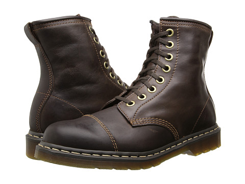 Incaltaminte Barbati Dr Martens Mace Capper Boot Dark Brown Polished Wyoming