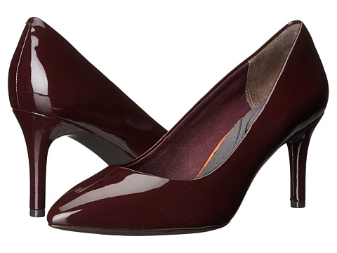 Incaltaminte Femei Rockport Total Motion 75mm Pointy Toe Pump Dark Vino Patent