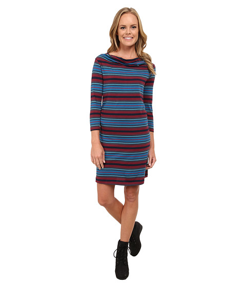 Imbracaminte Femei Patagonia Kamala Cowl Neck Dress Alba StripeOxblood Red