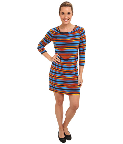 Imbracaminte femei Patagonia Kamala Cowl Neck Dress Hatty StripeAndes Blue