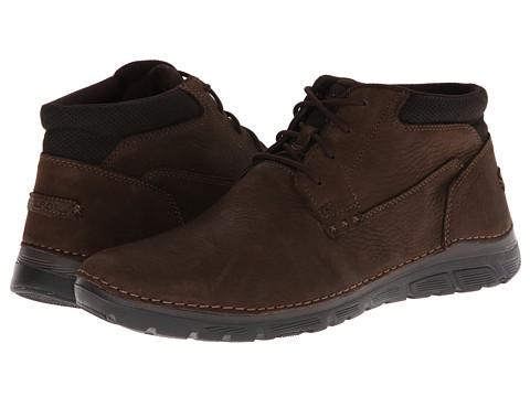 Incaltaminte Barbati Rockport RocSports Lite ZoneCush Plain Toe Boot Dark Brown