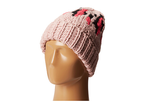 Accesorii Femei San Diego Hat Company KNH3314 Oversized Cable Knit Beanie with Pattern Multi Pink