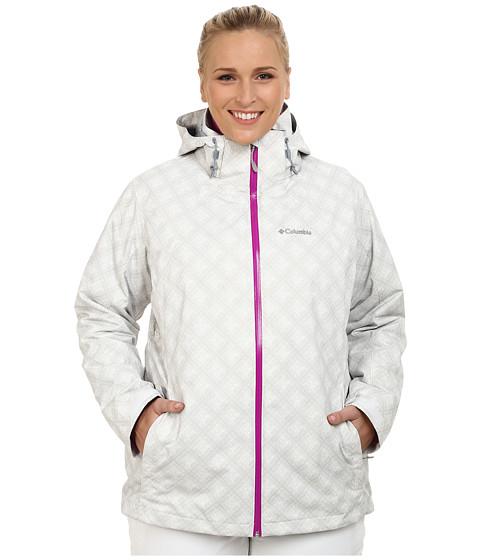 Imbracaminte Femei Columbia Plus Size Whirlibirdtrade Interchange Jacket White Plaid Print