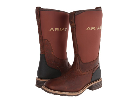 Incaltaminte Barbati Ariat Hybrid All Weather Wide Square Toe Oiled BrownBrown Neoprene