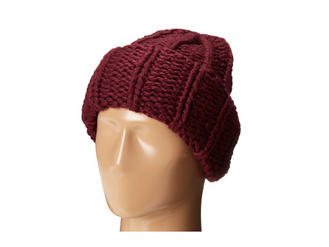 Accesorii Femei San Diego Hat Company KNH3304 Oversized Large Cable Knit Beanie Wine
