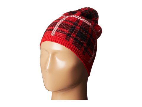 Accesorii Femei Betsey Johnson Clash of the Tartans Beanie Hat Red