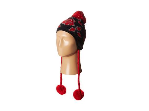 Accesorii Femei Betsey Johnson Vintage Rose Earflap Hat Black