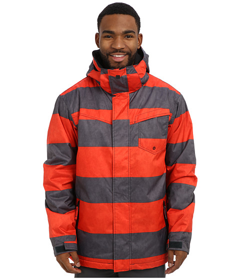 Imbracaminte Barbati Quiksilver Mission Print Insulated Jacket Fiery Red