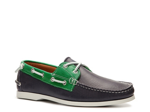 Incaltaminte Barbati Ralph Lauren Collection Telford II Leather Color Block Boat Shoe Navy BlueGreen