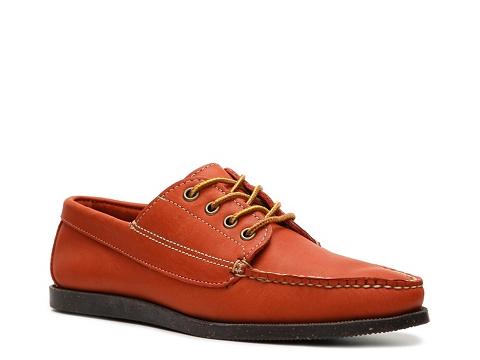 Incaltaminte Barbati Ralph Lauren Collection Tahoma Reverse Leather Boat Shoe Orange