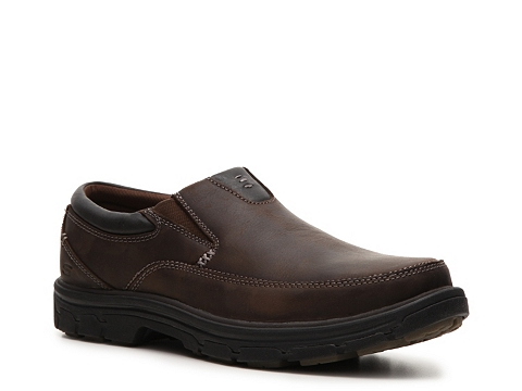 Incaltaminte Barbati SKECHERS Relaxed Fit The Search Slip-On BrownBlack