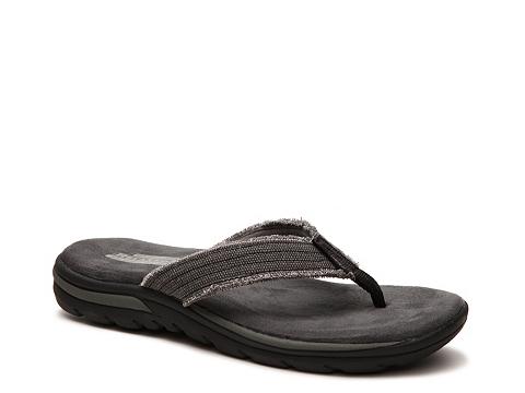 Incaltaminte Barbati SKECHERS Relaxed Fit Bosnia Flip Flop Black