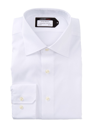Imbracaminte Barbati Lorenzo Uomo Perfect No Iron Long Sleeve Trim Fit Dress Shirt White
