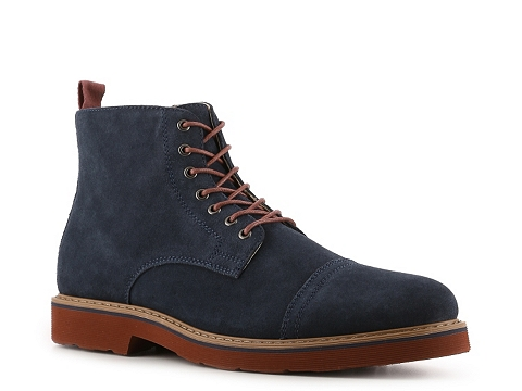 Incaltaminte Barbati GBX Bowery Cap Toe Boot Navy BlueRed