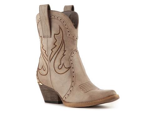 Cizme Femei Volatile Calico Cowboy Boot Taupe
