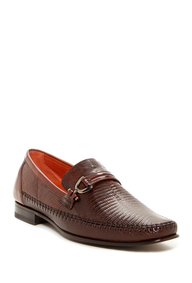 Incaltaminte Barbati Mezlan Genuine Lizard Bit Loafer TAN