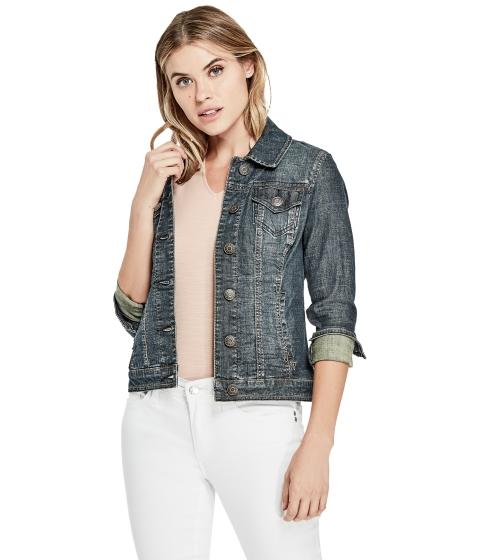 Imbracaminte Femei GUESS Alisana Denim Jacket dark wash