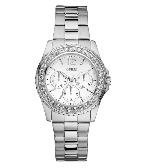 Ceasuri Femei GUESS Silver-Tone Multifunction Watch no color