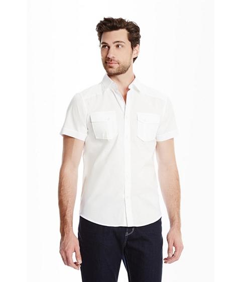 Imbracaminte Femei GUESS Sydney Poplin Button-Down Shirt true white