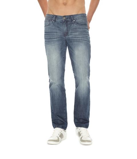 Imbracaminte Barbati GUESS Delmar Slim Straight Jeans 32 Inseam medium wash 32 inseam