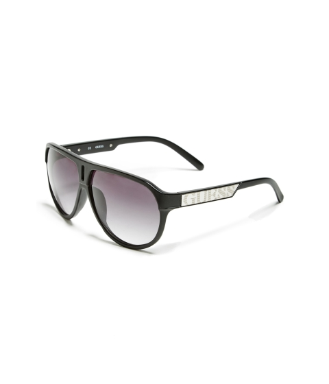 Accesorii Barbati GUESS Plastic Aviator Sunglasses multi black