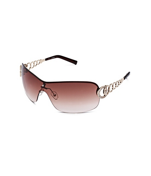 Accesorii Femei GUESS Rimless Shield Sunglasses tortoise shell