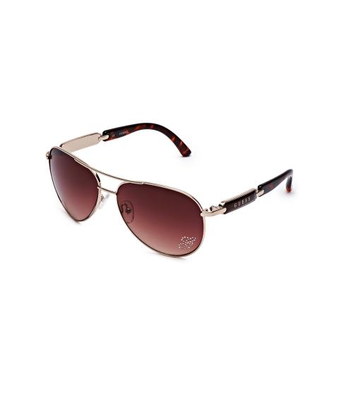 Accesorii Femei GUESS Mirrored Aviator Sunglasses gold