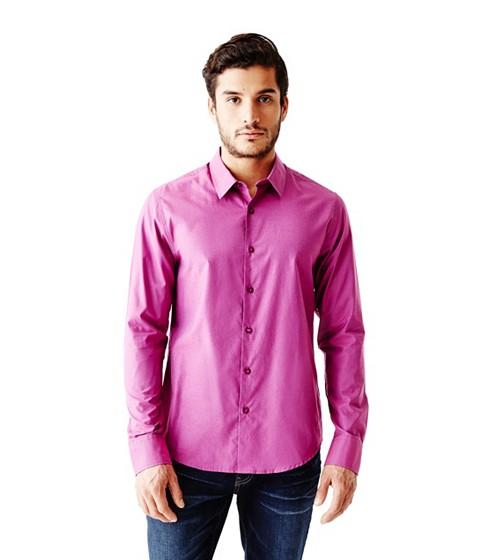 Imbracaminte Barbati GUESS Ezra Solid Shirt deep ocean wash 34