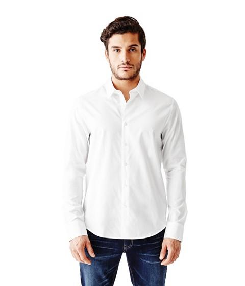Imbracaminte Barbati GUESS Ezra Solid Shirt true white
