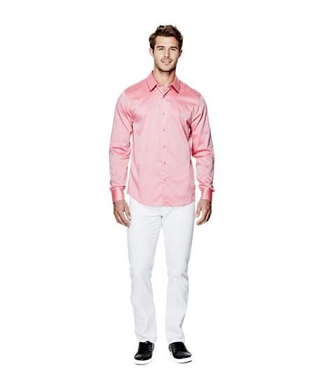 Imbracaminte Barbati GUESS Ezra Solid Shirt pink bliss