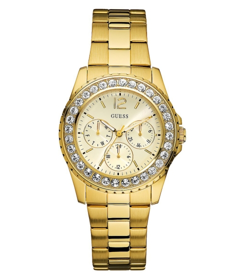 Ceasuri Femei GUESS Gold-Tone Multifunction Watch no color