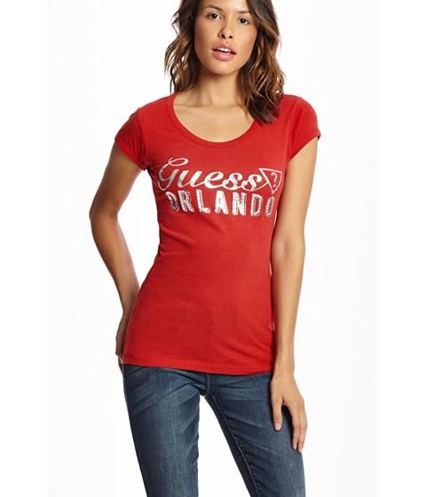 Imbracaminte Femei GUESS Orlando Sandy Beach Tee varsity red