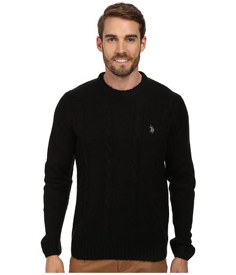 Imbracaminte Barbati US Polo Assn LS Mohair Cable Fro Black