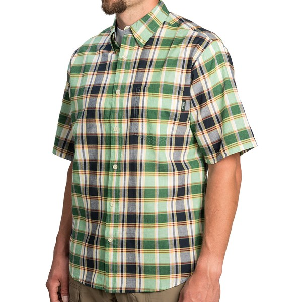 Imbracaminte Barbati Woolrich Timberline Shirt - Short Sleeve FERN (21)