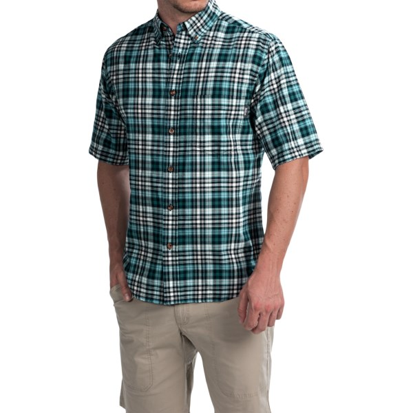 Imbracaminte Barbati Woolrich Timberline Shirt - Short Sleeve NORDIC BLUE (27)