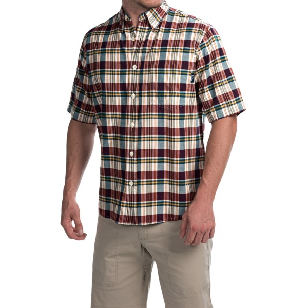 Imbracaminte Barbati Woolrich Timberline Shirt - Short Sleeve INK CHECK (25)