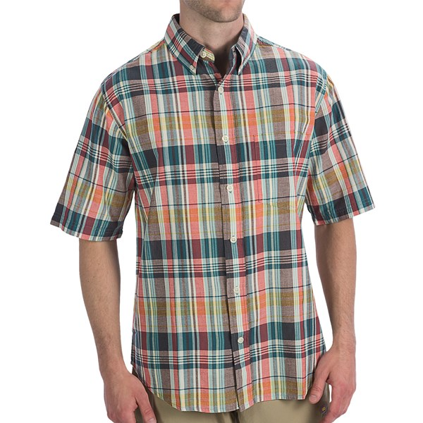Imbracaminte Barbati Woolrich Timberline Shirt - Short Sleeve ATLANTIC (07)