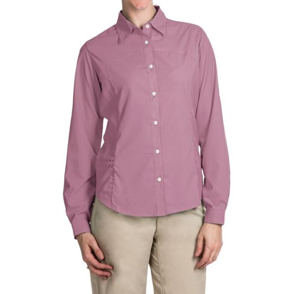 Imbracaminte Femei White Sierra Gobi Desert Shirt - UPF 30 Convertible Long Sleeve (For Plus Size Women) ORCHID HAZE (16)