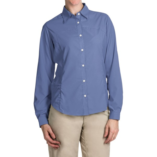 Imbracaminte Femei White Sierra Gobi Desert Shirt - UPF 30 Convertible Long Sleeve (For Plus Size Women) PERIBLUE (18)