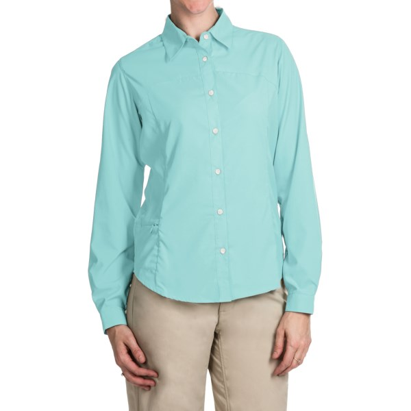 Imbracaminte Femei White Sierra Gobi Desert Shirt - UPF 30 Convertible Long Sleeve (For Plus Size Women) CLEARWATER (19)