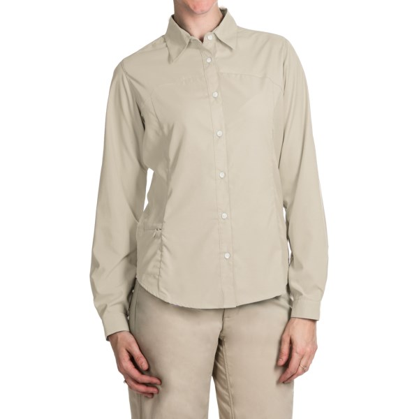 Imbracaminte Femei White Sierra Gobi Desert Shirt - UPF 30 Convertible Long Sleeve (For Plus Size Women) SAND (20)