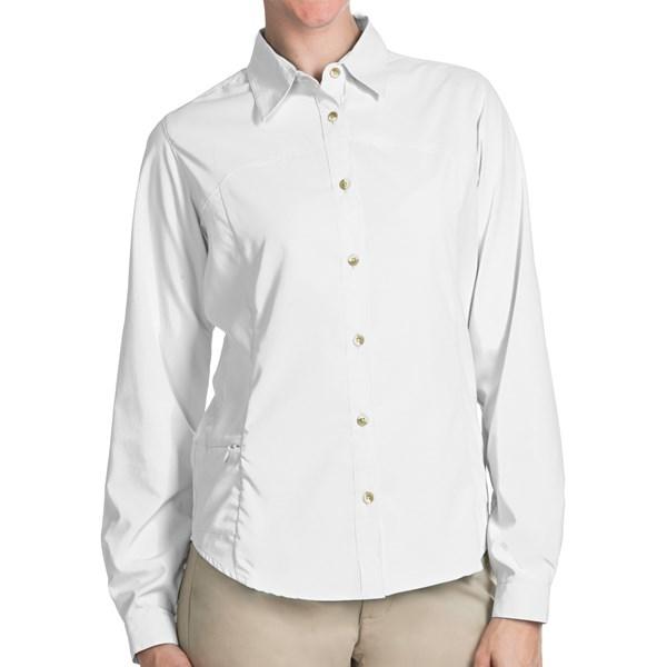 Imbracaminte Femei White Sierra Gobi Desert Shirt - UPF 30 Convertible Long Sleeve (For Plus Size Women) WHITE (06)